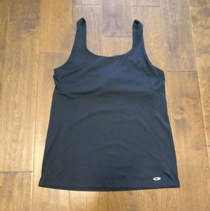 Champion duodry XL exercise tank builtin bra black